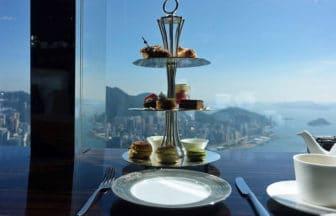 香港『ザ ラウンジ&バー(ザ・リッツ・カールトン香港)』で地上102階からの絶景アフタヌーンティー