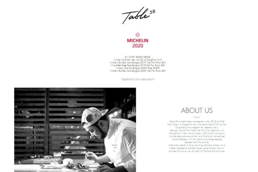 タイ・バンコク『テーブル サーティエイト(Table 38)』イノベーティブタイ