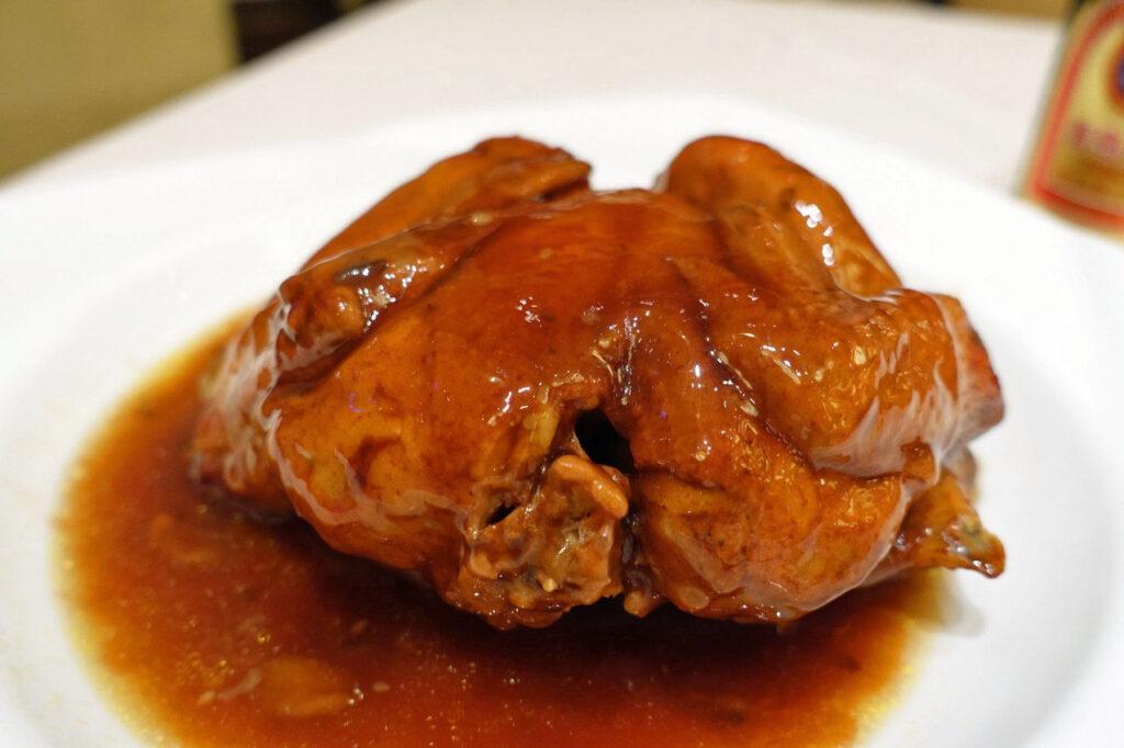 「得月童鶏」from蘇州『得月楼(トウユ工ロウ)』
