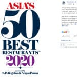 【ニュース】「アジアのベストレストラン50 」佐賀県での開催を中止。新型コロナウィルスの影響で