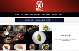 2020年度「アジアのベストレストラン50」にランクインした全店一覧