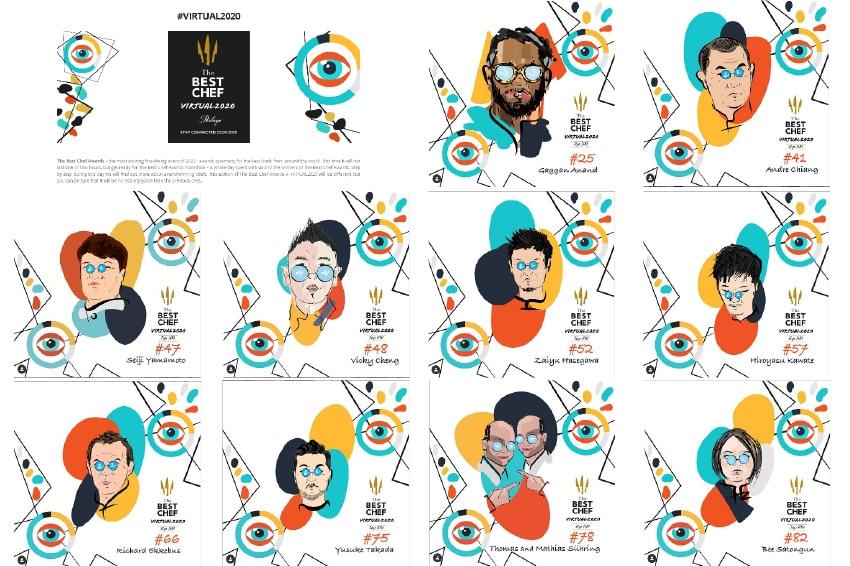 「The Best Chef in the World 2020」の100位以内にランクインしたアジアのシェフ一覧