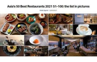 2021年度「アジアのベストレストラン50」ベスト51~100のリストを発表!